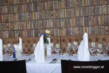 Restaurant Schlossbrasserie Linz - gedeckter Tisch