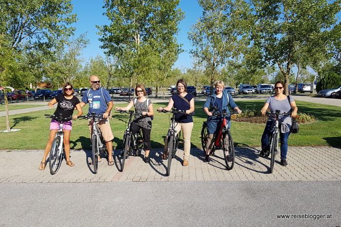 Reiseblogger auf Fahrradtour am Neusiedler See