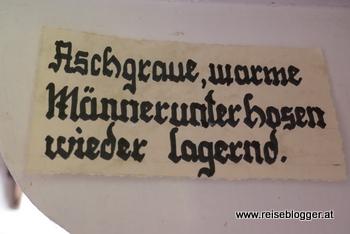 Spruch im Dorfmuseum